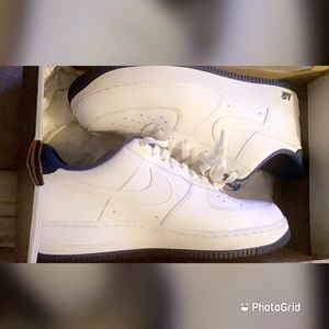 White and Blue Air Force 1s Low Top
